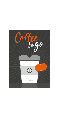 Poster A2 – Coffee to go